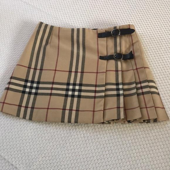 9f94d9f56c189 Burberry Other - Girls Burberry wool-blend plaid skirt